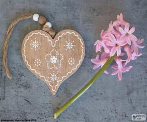 Heart and flower puzzle