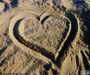 Heart at the beach puzzle