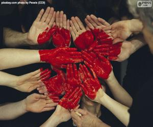 Heart in hands puzzle