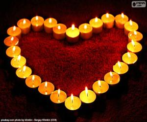 Heart of candles puzzle