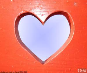 Heart shaped hole puzzle