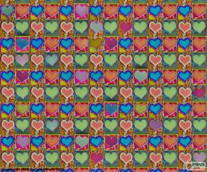 Hearts paper puzzle