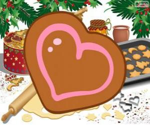 Heart's shaped cookie puzzle