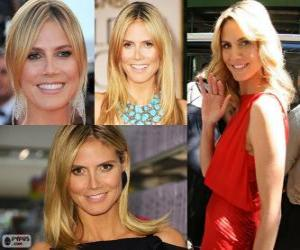 Heidi Klum is a German model puzzle