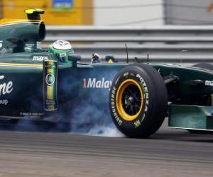 Heikki Kovalainen - Lotus - Istanbul 2010 puzzle