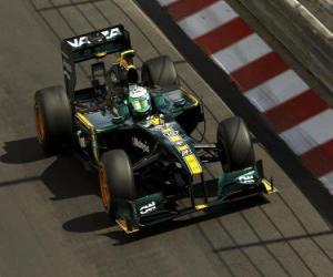 Heikki Kovalainen - Lotus - Monte-Carlo 2010 puzzle