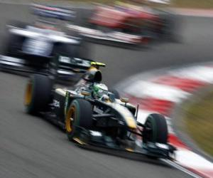 Heikki Kovalainen - Lotus - Shanghai 2010 puzzle