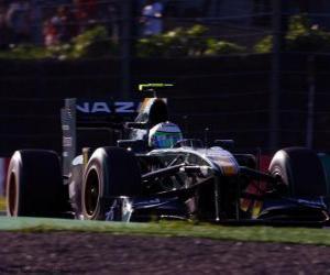 Heikki Kovalainen - Lotus - Suzuka 2010 puzzle