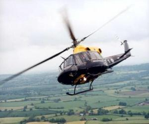 Helicopter in action puzzle