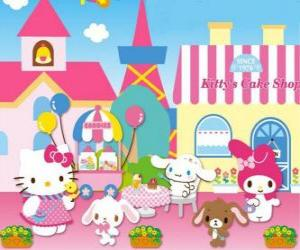 Hello Kitty and her friends enjoying a day in Pastry puzzle