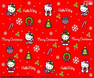 Hello Kitty Christmas puzzle