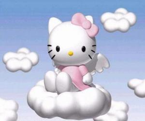 Hello Kitty flying over a cloud puzzle