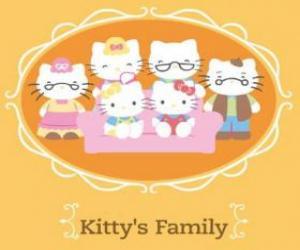 Hello Kitty's family puzzle