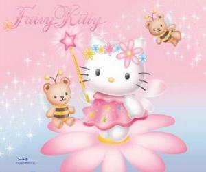 Hello Kitty, the garden fairy puzzle