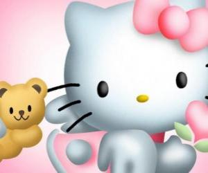 Hello Kitty with her Teddy Bear Tiny Chum puzzle