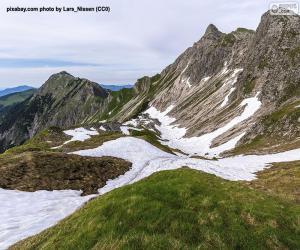High mountain landscape puzzle