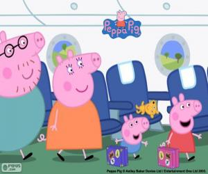 Holiday family Peppa Pig puzzle