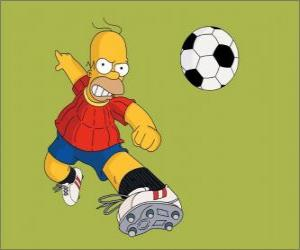 Homer Simpson playing football puzzle