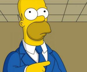 Homer Simpson very elegant puzzle