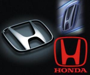 Honda logo, Japanese car brand puzzle