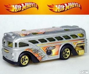 Hot Wheels bus puzzle