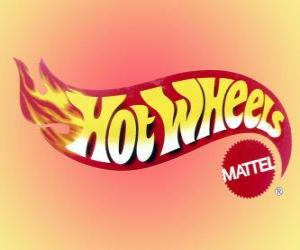 Hot Wheels logo from Mattel puzzle