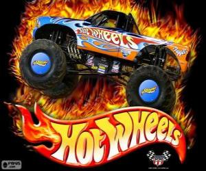 Hot Wheels Monster Truck in action puzzle