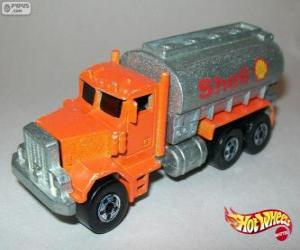 Hot Wheels tanker truck puzzle