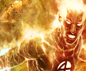 Human Torch is the youngest member of the Fantastic Four puzzle