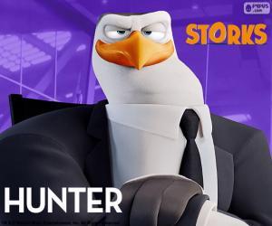 Hunter, storks puzzle