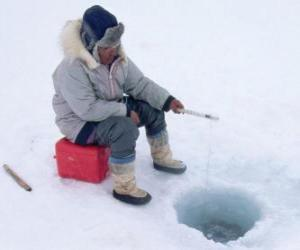 Ice fishing puzzle