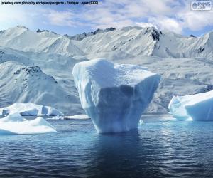 Iceberg near the sea shore puzzle