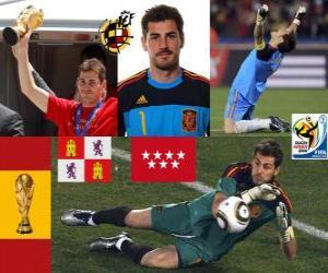 Iker Casillas (the saint of Móstoles) Spanish team goalie or goalkeeper puzzle