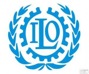 ILO logo, International Labour Organization puzzle