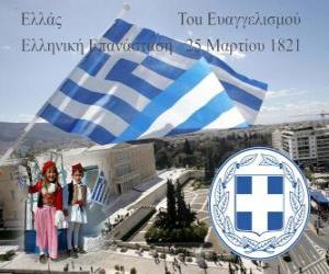 Independence Day of Greece, March 25, 1821. War of Independence or Greek Revolution puzzle