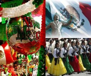 Independence Day of Mexico. Commemorates September 16, 1810, the beginning of the struggle against Spanish rule puzzle