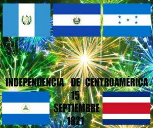Independence of Central America, September 15, 1821. Commemoration of independence from Spain in the modern countries of Guatemala, Honduras, El Salvador, Nicaragua and Costa Rica puzzle