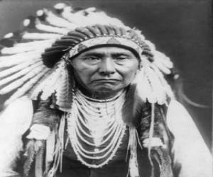 Indian chief's face puzzle