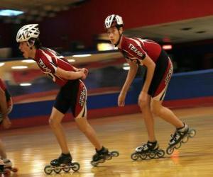Inline roller skater puzzle