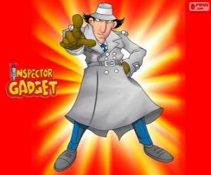 Inspector Gadget is dressed as the famous Inspector Closeau puzzle