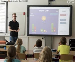Interactive whiteboard puzzle