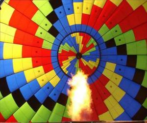Interior of a balloon with the flame puzzle