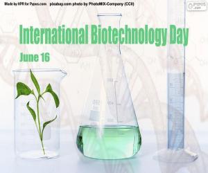 International Biotechnology Day puzzle