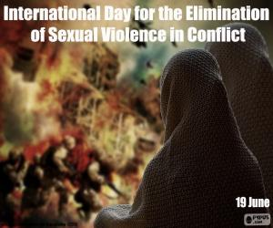 International Day for the Elimination of Sexual Violence in Conflict puzzle
