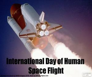 International Day of Human Space Flight puzzle