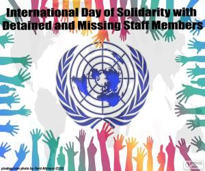 International Day of Solidarity with Detained and Missing Staff Members puzzle