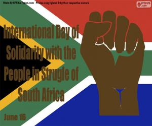 International Day of Solidarity with the People in Struggle of South Africa puzzle