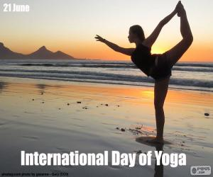 International Day of Yoga puzzle