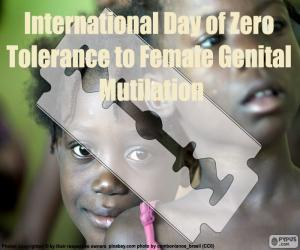 International Day of Zero Tolerance to Female Genital Mutilation puzzle