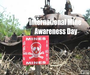 International Mine Awareness Day puzzle